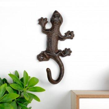 Крючок декоративный металл ящерица 17х8,5х3,5 см