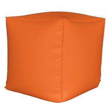Пуфик куб мини, ткань нейлон, цвет оранжевый