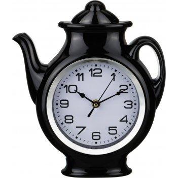 Часы настенные кварцевые chef kitchen черные 25*30*5 см. диаметр циферблат
