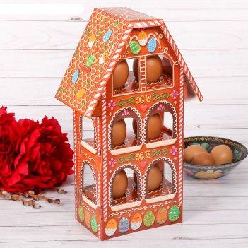 Пасхальная подставка для яиц «пряничный домик»