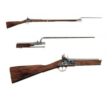 De-1054 ружье со штыком, исп.-англ., 18 в.