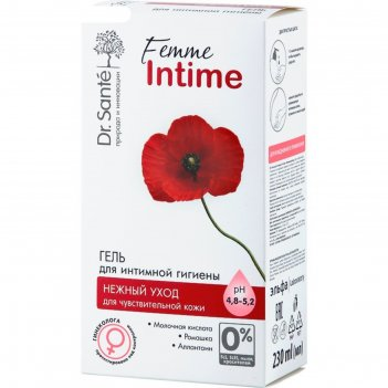 Гель для интимной гигиены dr.sante femme intime «нежный уход», 230 мл