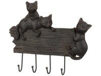 Крючок настенный кошки 24*20*2 см.