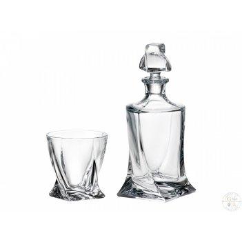 Набор для виски crystalite bohemia quadro 5 предметов