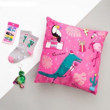 Набор подарочный fun winter подушка-секрет 40х40 см аксессуары (3 шт)