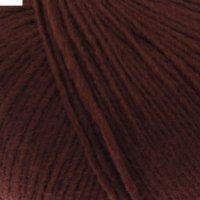 Пряжа азалия 40% мериносовая шерсть, 60% акрил 270м/100гр (0416, шоколадны