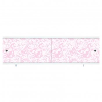 Экран под ванну кварт мрамор розовый, 148 мм