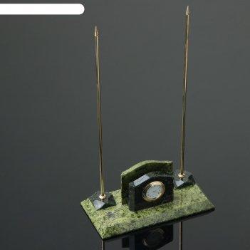 Набор настольный часы, 24х9,5х7 см, змеевик