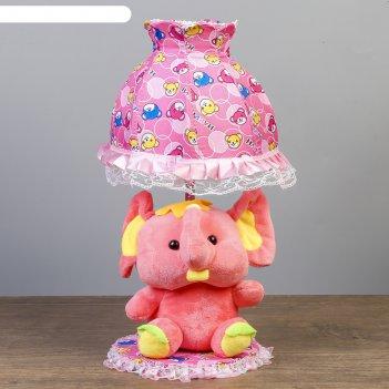 Лампа настольная слоник 1х40вт е14 красный 37х18х19 см