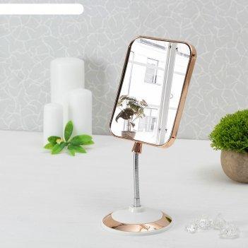 Зеркало на гибкой ножке, с увеличением, зеркальная поверхность — 12,5 x 15