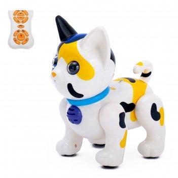 Животное-робот радиоуправляемый интерактивный кот, русский чип, световые э