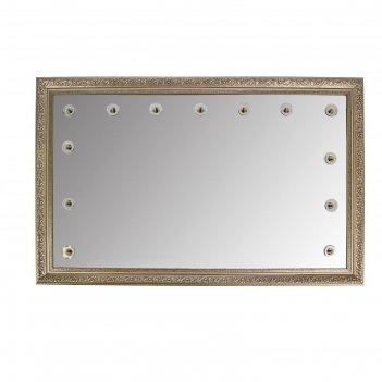 Зеркало «верона», гримёрное, настенное,13 лампочек, 110х70 см