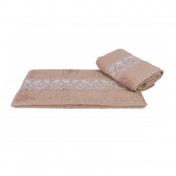 Полотенце sidelya, размер 50 x 90 см, коричневый