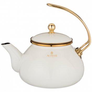 Чайник agness эмалированный, 2,2л подходит для индукц.плит