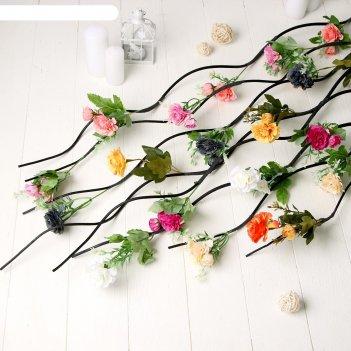 Декор тинги садовые цветы 150 см (цена за штуку) микс
