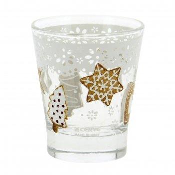 Набор стаканов «рождественское печенье» 250 мл, 3 шт, в п/у