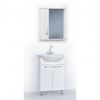 Набор мебели престиж 55: тумба с раковиной + шкаф-зеркало