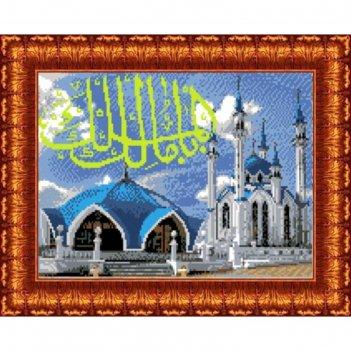 Схема для вышивания крестиком «мечеть кул шариф», канва 23х30 см