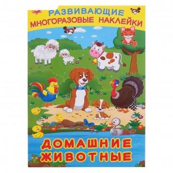 Книжка с наклейками. домашние животные