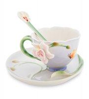 Fm-37/ 3 чайная пара орхидея (pavone)