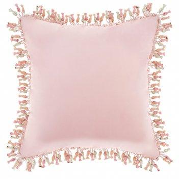 Подушка декоративная карамелька,45х45см,розовая,100%пэ вышивка