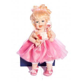 Кукла коллекционная забава, фарфор 38см
