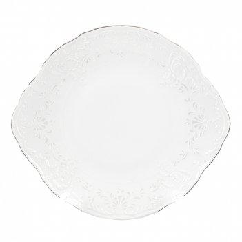 Тарелка для торта bernadotte платиновый узор 27 см