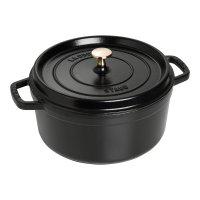 Кокот круглый, объем: 5,2 л, диаметр: 26 см, материал: чугун, цвет: черный