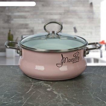 Кастрюля 3 л maestro, форма тор, цвет розовый