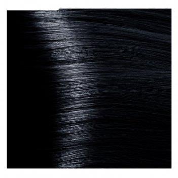 Крем-краска для волос kapous с гиалуроновой кислотой, 1.1 иссиня-черный, 1
