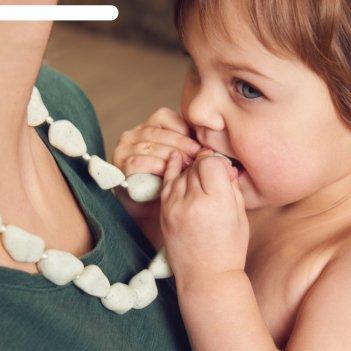 Слингобусы-массажеры для дёсен happy baby chew beads, силиконовые