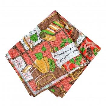 Полотенце вафельное для бани слпвн-1 70х145 см, красный, хлопок 100%, 176г