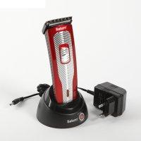 Машинка для стрижки saturn st-hc7384, 5 регулировок, аккумулятор, красный