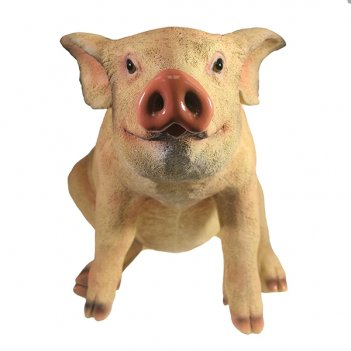 Фигура декоративная свинка сняпка l50w23h32