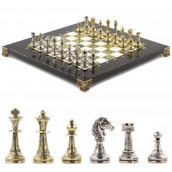Шахматы стаунтон 28х28 см офиокальцит мрамор