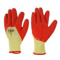 Перчатки с нейлоновой нитью латекс протекторная пропитка цвет микс