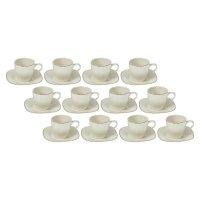 Сервиз кофейный 24 предмета бланш: чашка 80 мл, блюдце