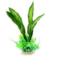 Островок с растениями для аквариума, шелковые листья, 18 х 15 х 31 см