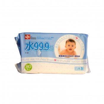Детские влажные салфетки 99,9% воды д/рук и лица 80 шт iplus , мягкая упак