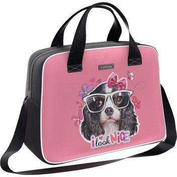 Сумка 44605 для спорта и путешествий erichkrause 21 l clever dog розовая
