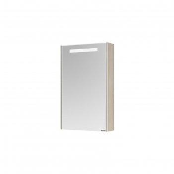 Зеркало-шкаф верди 50 1a195802vda0, цвет белый/ясень фабрик