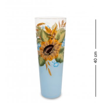 Vz- 56 ваза стеклянная подсолнух  40см (конус)