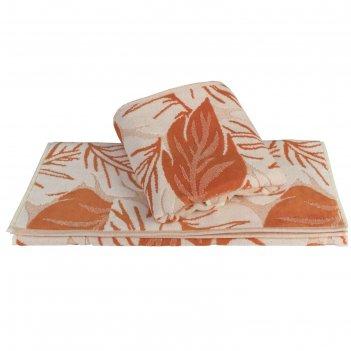Полотенце autumn, размер 70 x 140 см, оранжевый
