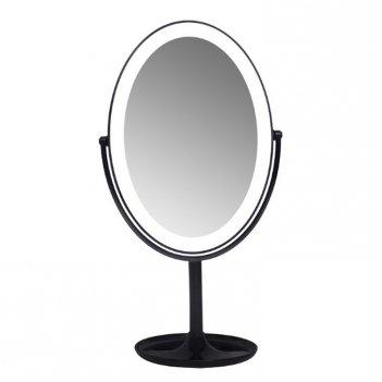 Зеркало с подсветкой на подставке, черное, 30,5х16,2х11,1 см