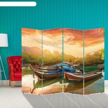 Ширма корабли. декор 29 200 x 160 см