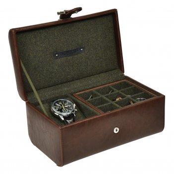 Lc designs 73816 бокс для часов и запонок коричневого цвета, серия - jacob