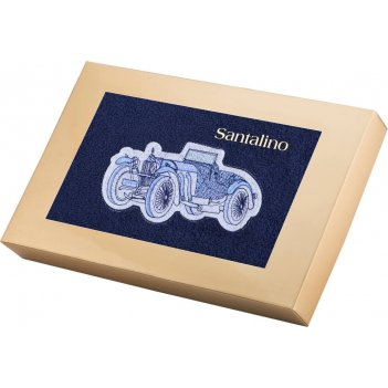 Полотенце ретро автомобиль 40*70 см., 380 г/м2, м/х, х/б 100% синий