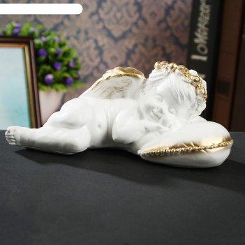 Статуэтка ангел на подушке 7 см, золотой