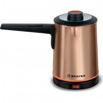 Кофеварка-турка brayer br1141, 850 вт, 0.5 л, нерж.сталь, автоотключение,