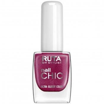 Лак для ногтей ruta nail chic, тон 37, бургунди